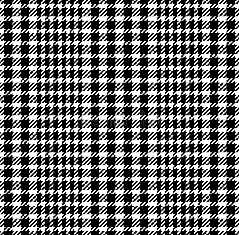 Check Fashion Striped Seamless Pattern. Check fashion tweed black and white striped seamless pattern for fashion textile prints, wallpaper, wrapping, fabric stock illustration