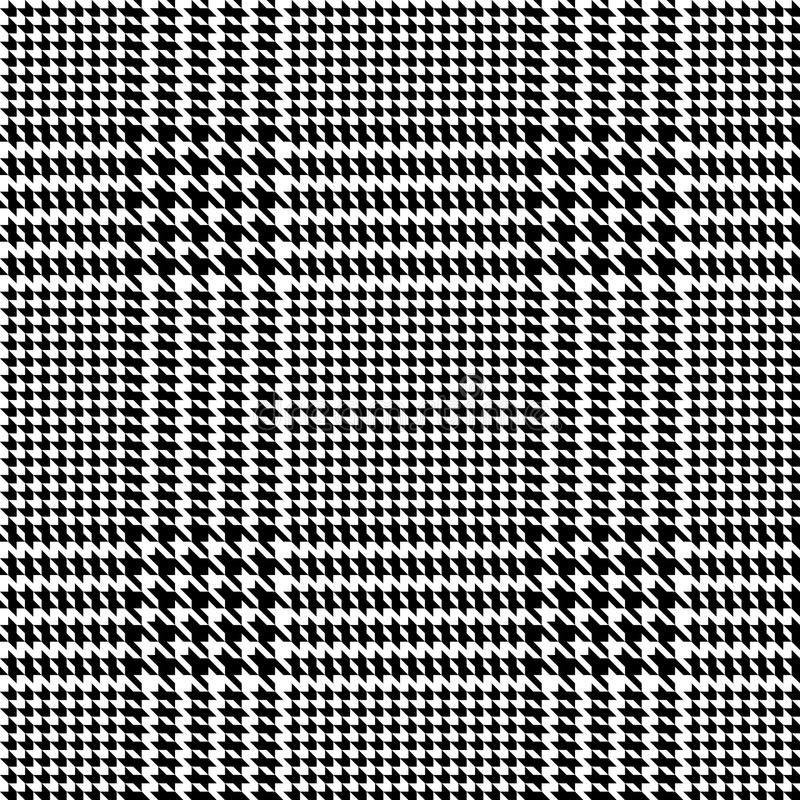 Check Fashion Seamless Pattern. Check fashion tweed black seamless pattern with fabric imitation in white background for textile prints, wallpaper, wrapping vector illustration