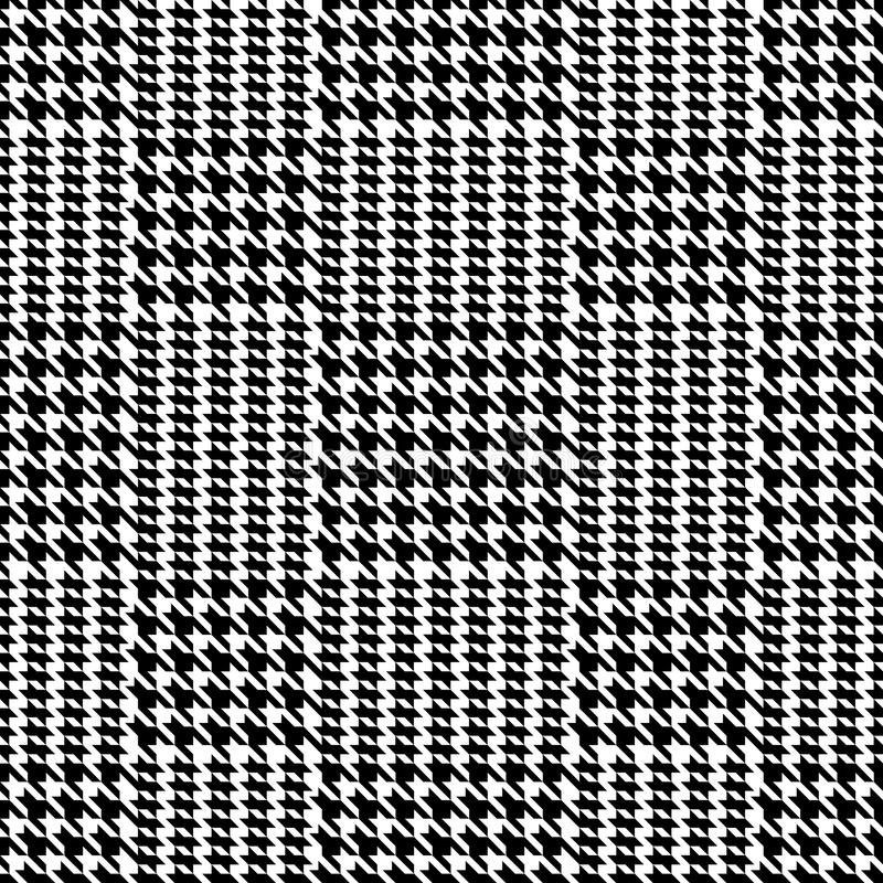 Check Fashion Seamless Pattern. Check fashion tweed black seamless pattern on white background for textile prints, wallpaper, wrapping royalty free illustration