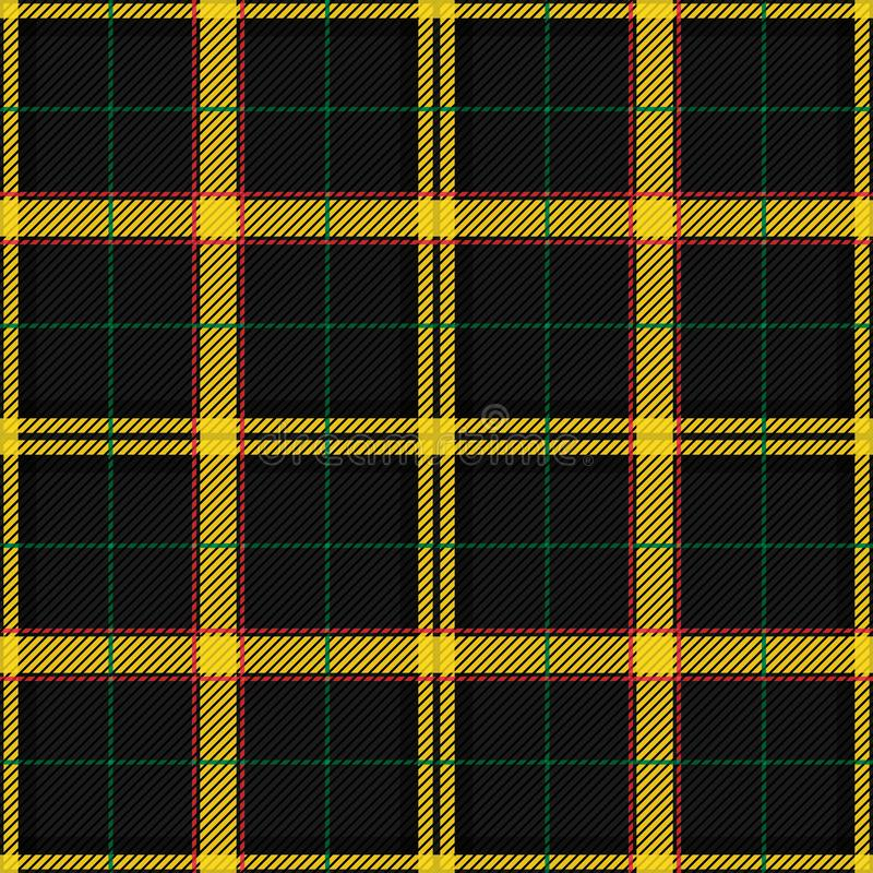 Scottish Tartan Checkered Seamless Pattern. Vector Repeat Background. Check fashion tweed black and yellow seamless pattern. Tartan repeat element for fashion vector illustration