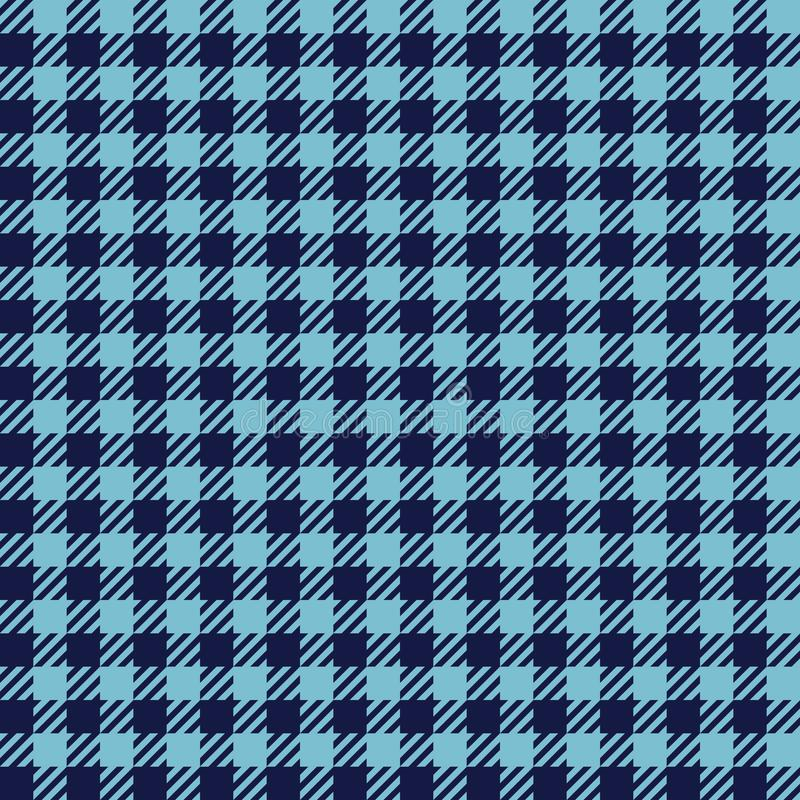 Check Fashion Seamless Pattern. Check fashion tweed blue seamless pattern for textile prints, wallpaper, wrapping, fabric imitation and backgrounds stock illustration