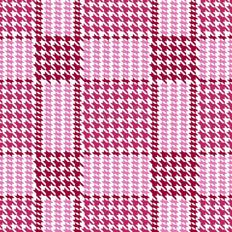 Check Fashion Seamless Pattern. Check fashion tweed pastel pink seamless pattern on white background for textile prints, wallpaper, wrapping stock illustration