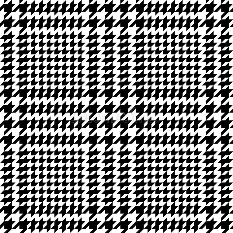 Check Fashion Seamless Pattern. Check fashion tweed white and black seamless pattern for fashion textile prints, wallpaper, wrapping, fabric imitation and vector illustration
