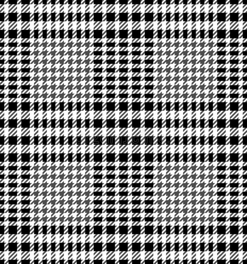 Check Fashion Seamless Pattern. Check fashion tweed white and black seamless pattern for fashion textile prints, wallpaper, wrapping, fabric imitation and royalty free illustration