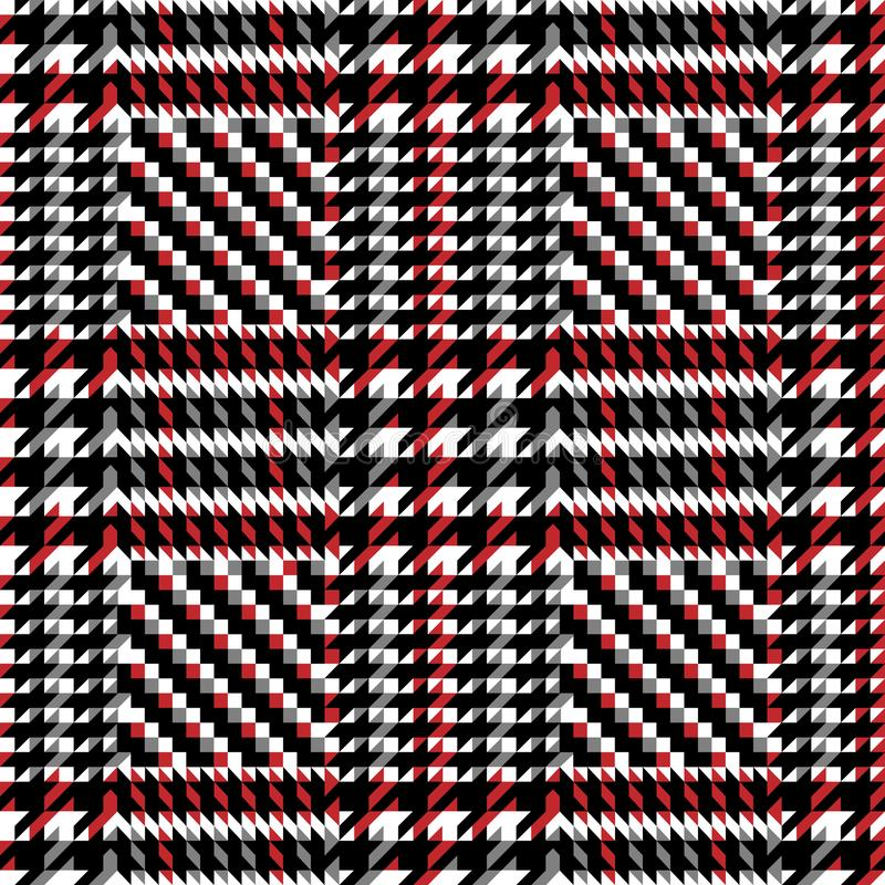 Check Fashion Seamless Pattern. Check fashion tweed white, gray, red and black seamless pattern for fashion textile prints, wallpaper, wrapping, fabric imitation vector illustration