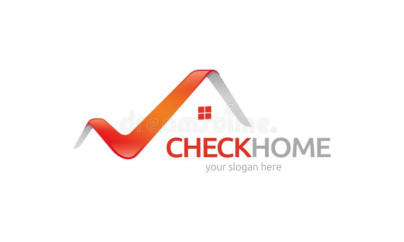 Check Home logo template. Minimalist and modern logo. Simple work and adjusted to suit your needs royalty free illustration