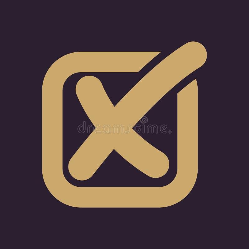 The Check Icon Checkmark And Checkbox No Voting Symbol Flat