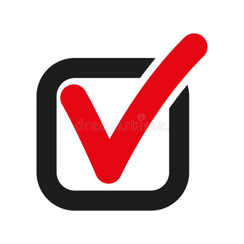 The Check Icon Checkmark And Checkbox Yes Voting Symbol Flat