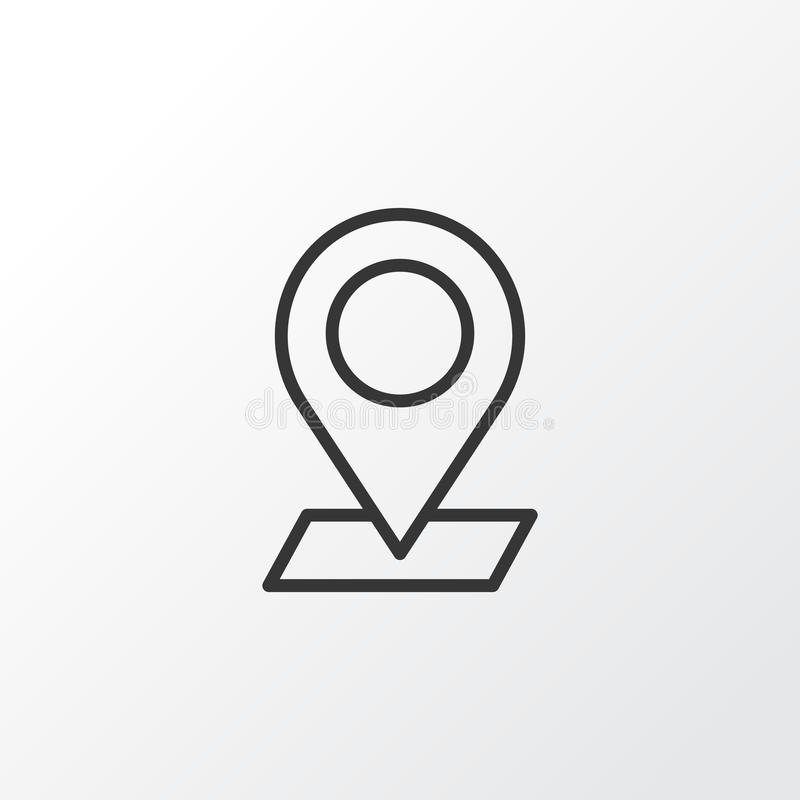Check In Icon Symbol. Premium Quality Isolated Pinpoint Element In Trendy Style. stock illustration