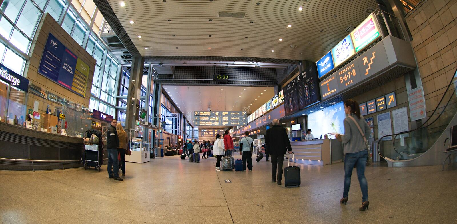 Check-in In Krakow Airport Editorial Stock Image