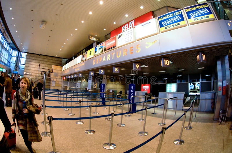 Download Check-in in Krakow airport editorial photography. Image of electronic - 24330497