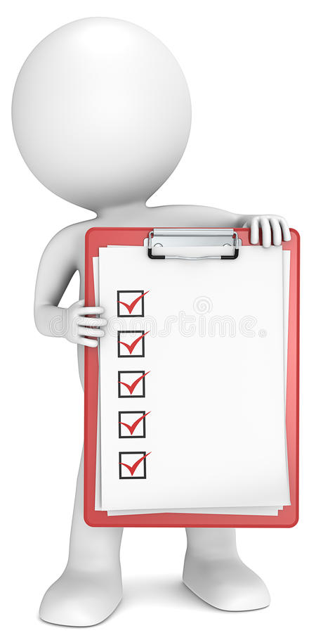 Check list. royalty free illustration