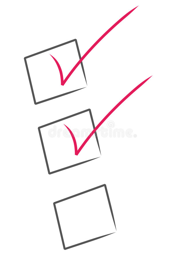 Download Check list stock vector. Image of blank, length, note - 6761765