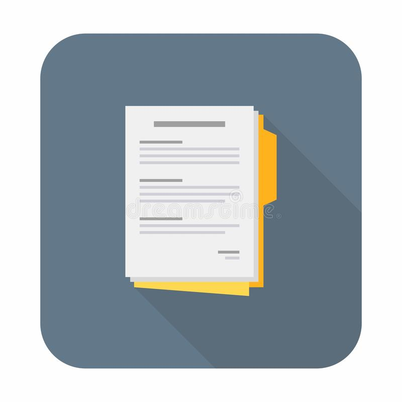 Document, Contract papers, Vector, Flat icon stock illustration