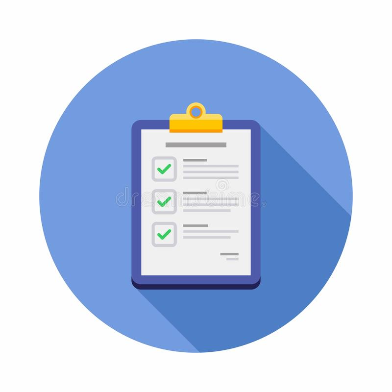 Check list, Clipboard, Document, Finance, Business, Isolated, illustration, Vector, Flat icon vector illustration
