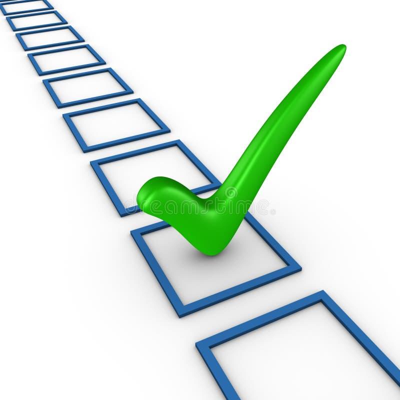 Download Check list concept stock illustration. Image of option - 21248325