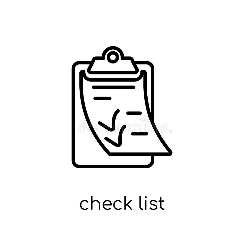 Check List icon from Delivery and logistic collection. Check list icon. Trendy modern flat linear vector check list icon on white background from thin line royalty free illustration