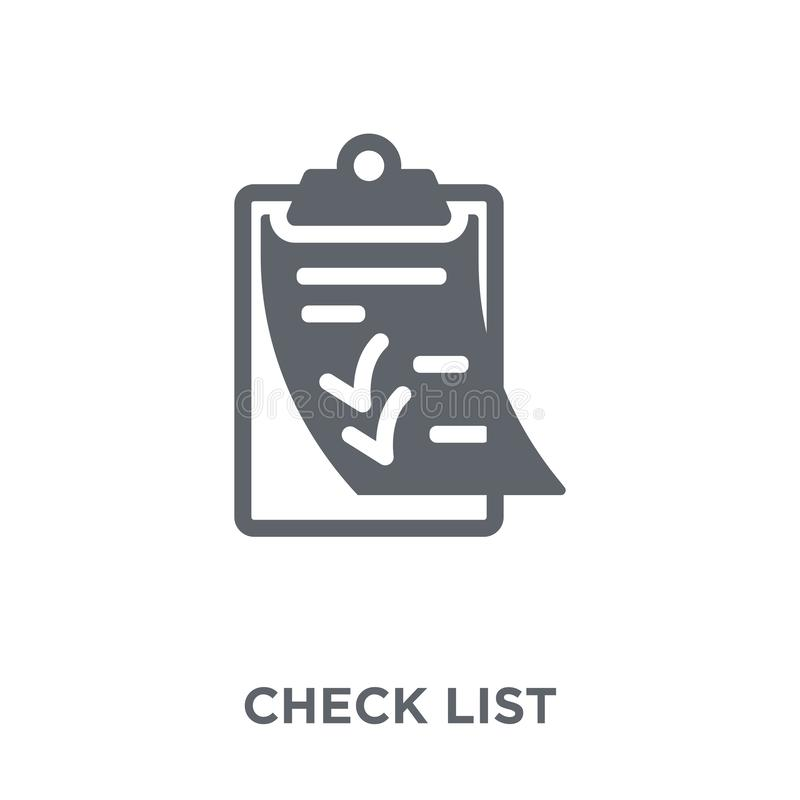 Check List icon from Delivery and logistic collection. Check List icon. Check List design concept from Delivery and logistic collection. Simple element vector vector illustration