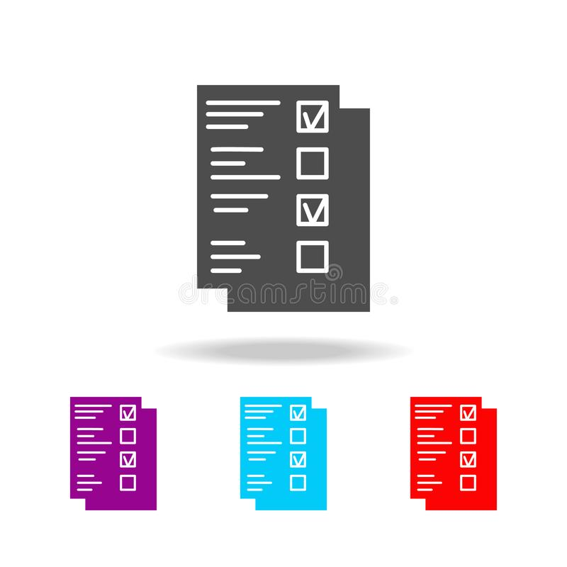 Check list icon. Elements of education in multi colored icons. Premium quality graphic design icon. Simple icon for websites, web. Design, mobile app, info royalty free illustration