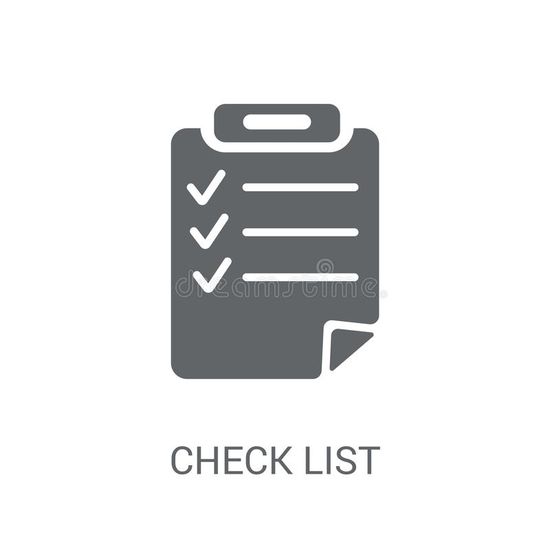 Check List icon. Trendy Check List logo concept on white background from Delivery and logistics collection. Suitable for use on web apps, mobile apps and print stock illustration
