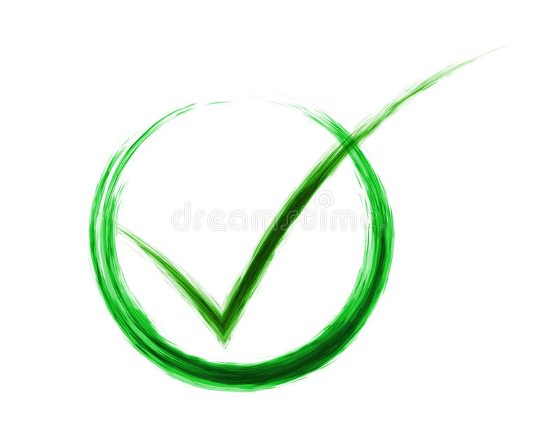 Check mark. Abstract check mark isolated on a white background vector illustration