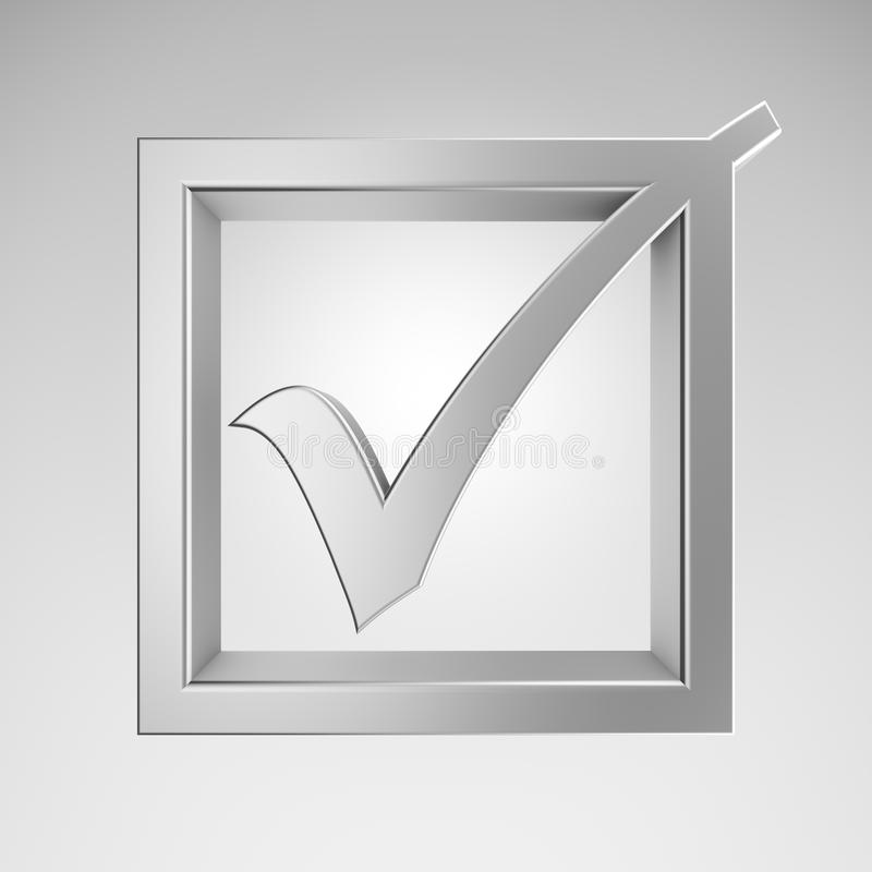 Download Check mark stock illustration. Image of glossy, render - 24602706