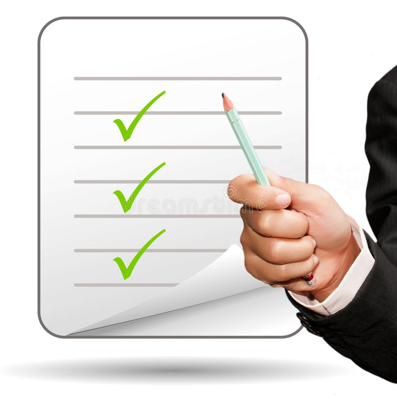 Download Check mark stock image. Image of concept, decisions, validated - 29312789
