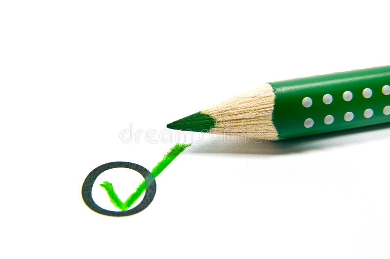 Download Check mark stock photo. Image of isolated, pencil, paper - 5738870