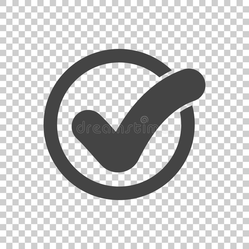 Check mark button. Icon vector flat royalty free illustration