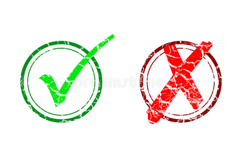 Check mark and cancel vector illustration