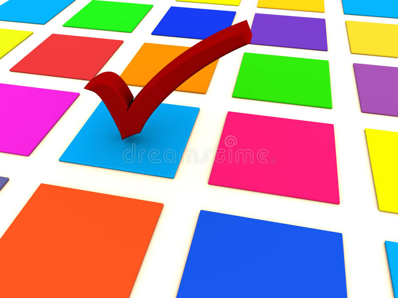 Download Check mark choice stock illustration. Image of vote, mark - 24599587