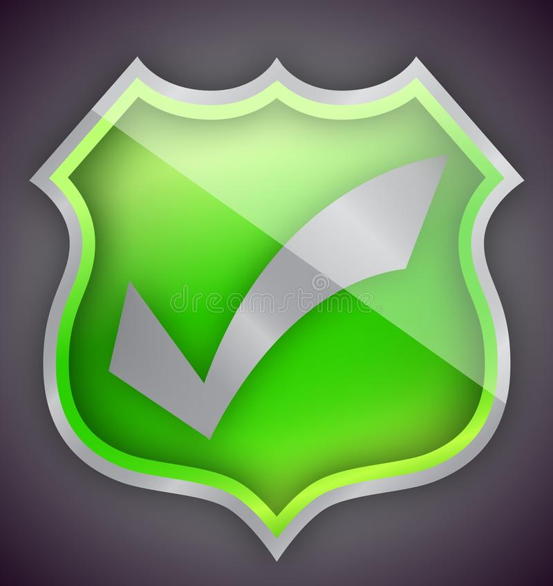 Download Check Mark Green Shield Illustration Design Stock Illustration - Illustration of safety, confirm: 26947035