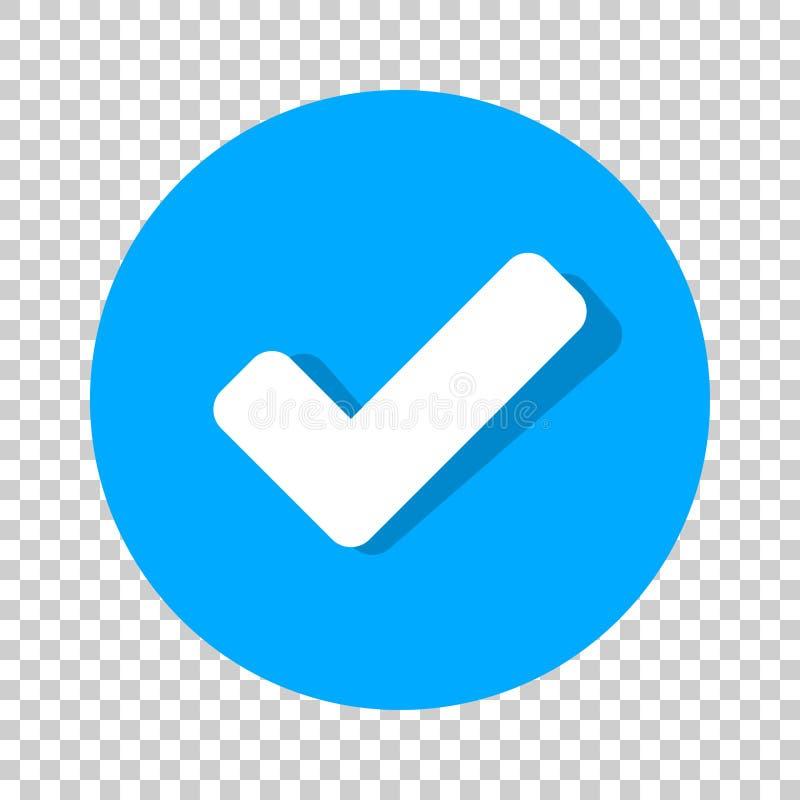 Check mark icon in flat style. Ok, accept vector illustration on vector illustration
