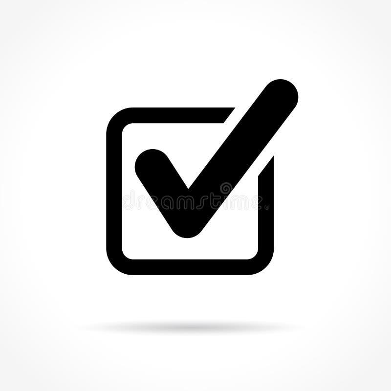 Check mark icon. Illustration of check mark icon on white background royalty free illustration