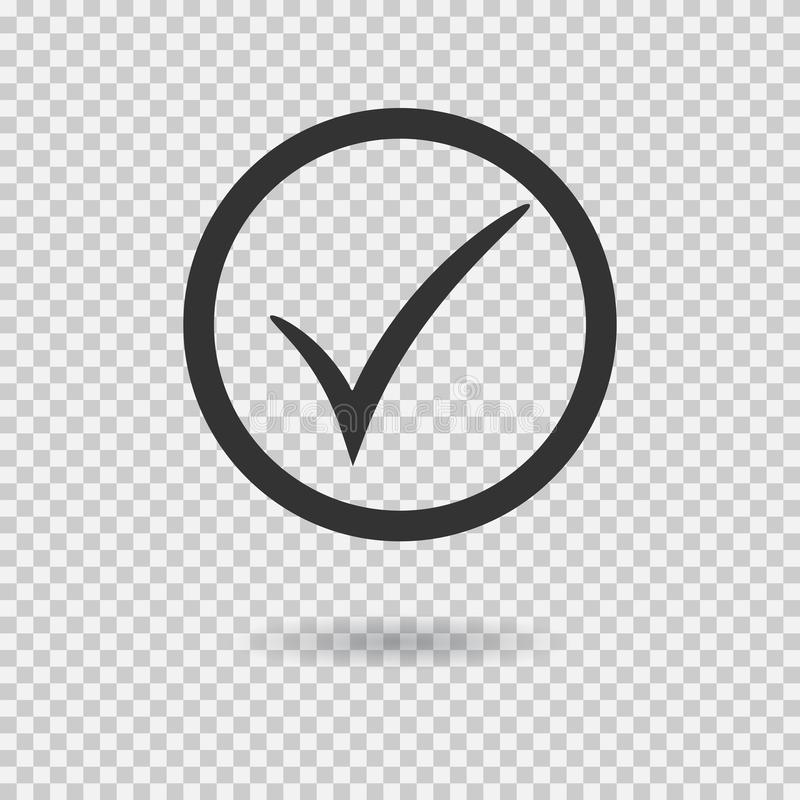 Check Mark Icon Vector Checkmark Button With Circle Tick Symbol