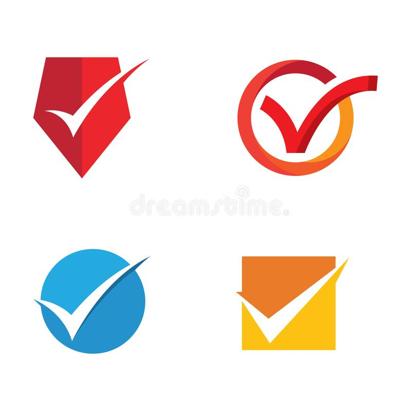 Check mark icons vector illustration design template. Check mark icon vector illustration design template, symbol, web, shape, tick, isolated, yes, business vector illustration