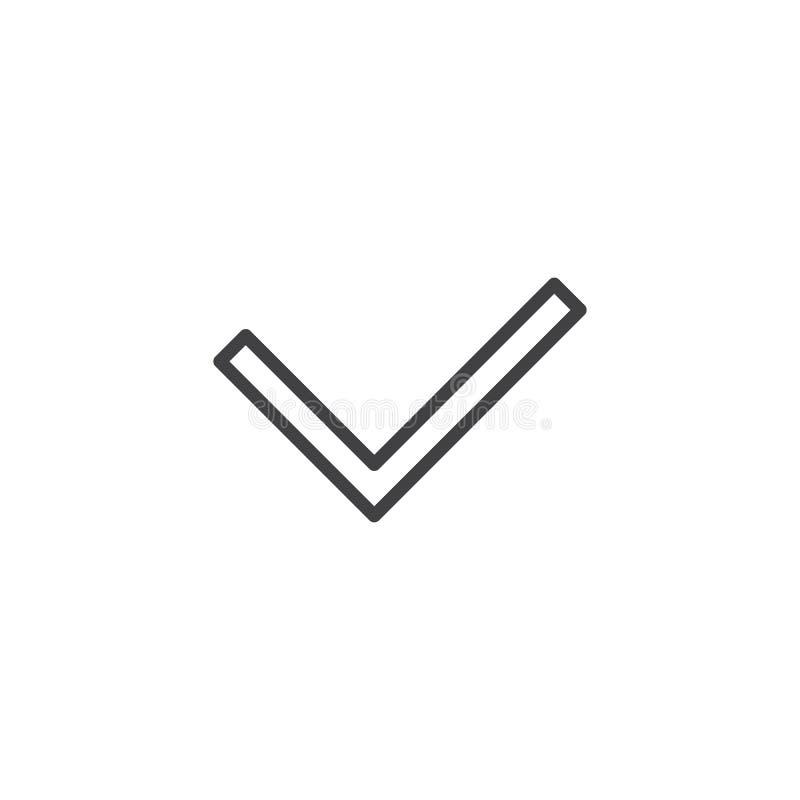 Check mark line icon stock illustration