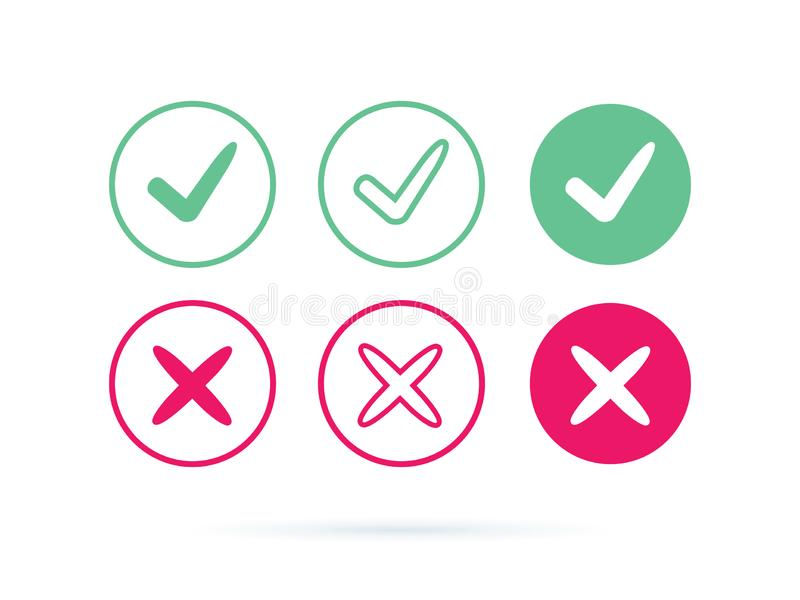 Check mark logo vector or icon. Tick symbol in green color illustration. Accept okey symbol for approvement or cheklist vector illustration
