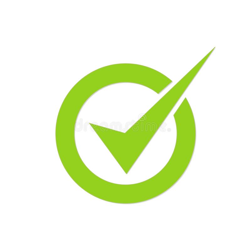 Check mark sign. Confirmation mark. Vector illustration royalty free illustration