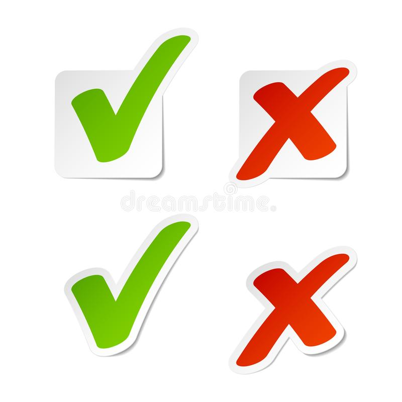 Free Check Mark Stickers Stock Image - 115629571