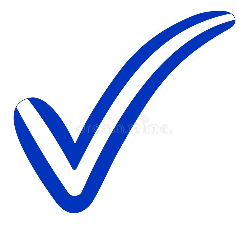 Check mark style Israel flag symbol elections, voting and approval. Vector concept check mark Israel tick il isr royalty free illustration