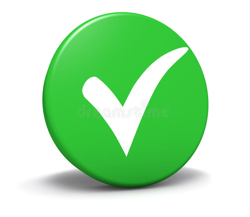 Download Check Mark Symbol Green Button Stock Illustration - Image: 38332885