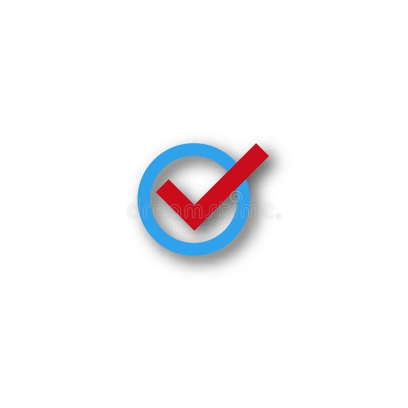 Check mark symbol. Vector flat icon confirm stock illustration