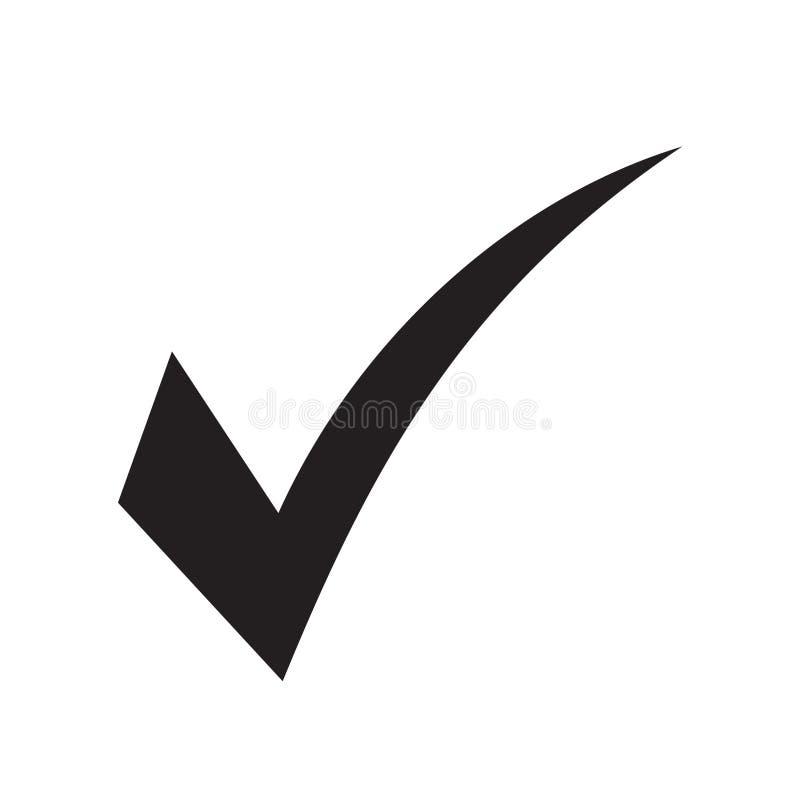 Check mark vector icon. Vector illustration on white background stock illustration