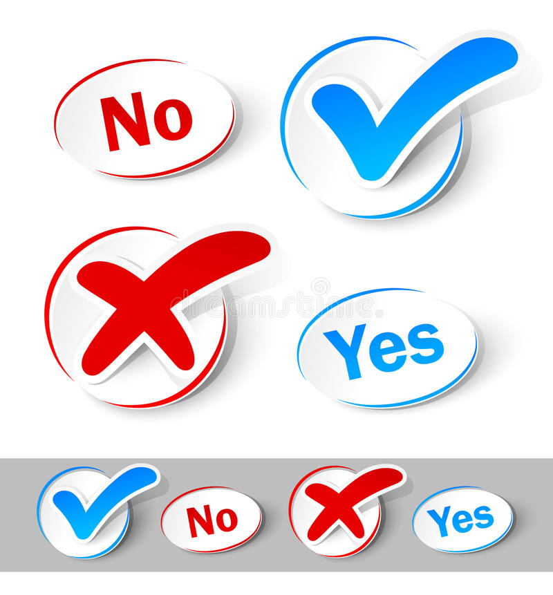 Free Check Mark Yes And No Royalty Free Stock Photo - 23948695