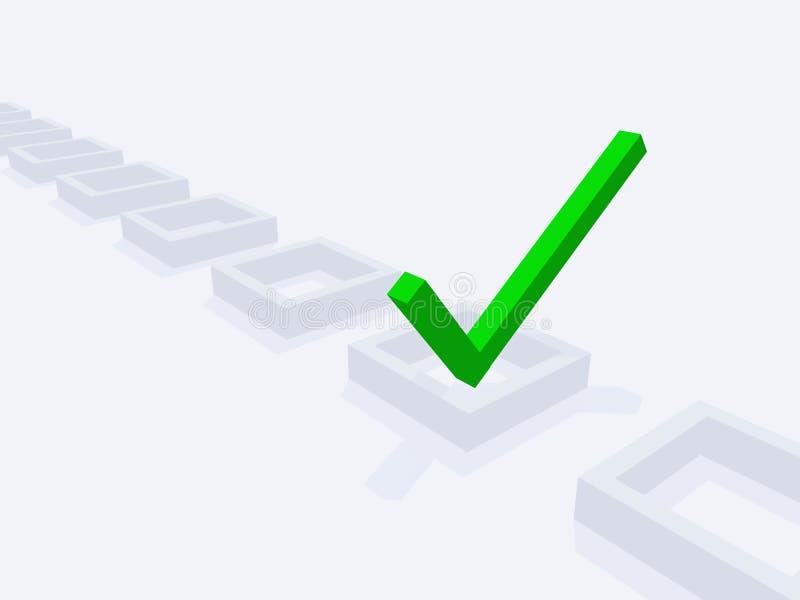 Check-Markierung der Abmessung-drei stock abbildung