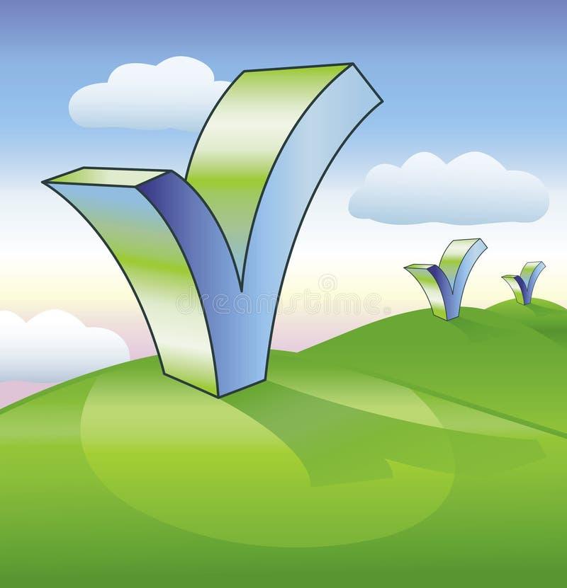 Download Check marks stock illustration. Image of milestones, stride - 15665248