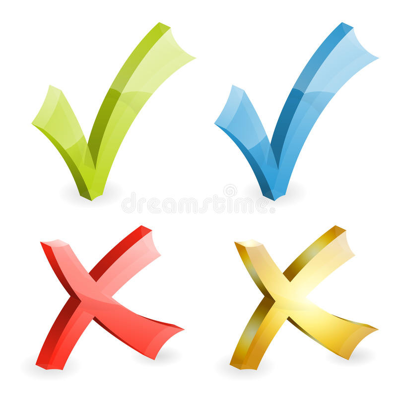 Download Check Marks stock vector. Image of negative, choice, graphic - 27639029