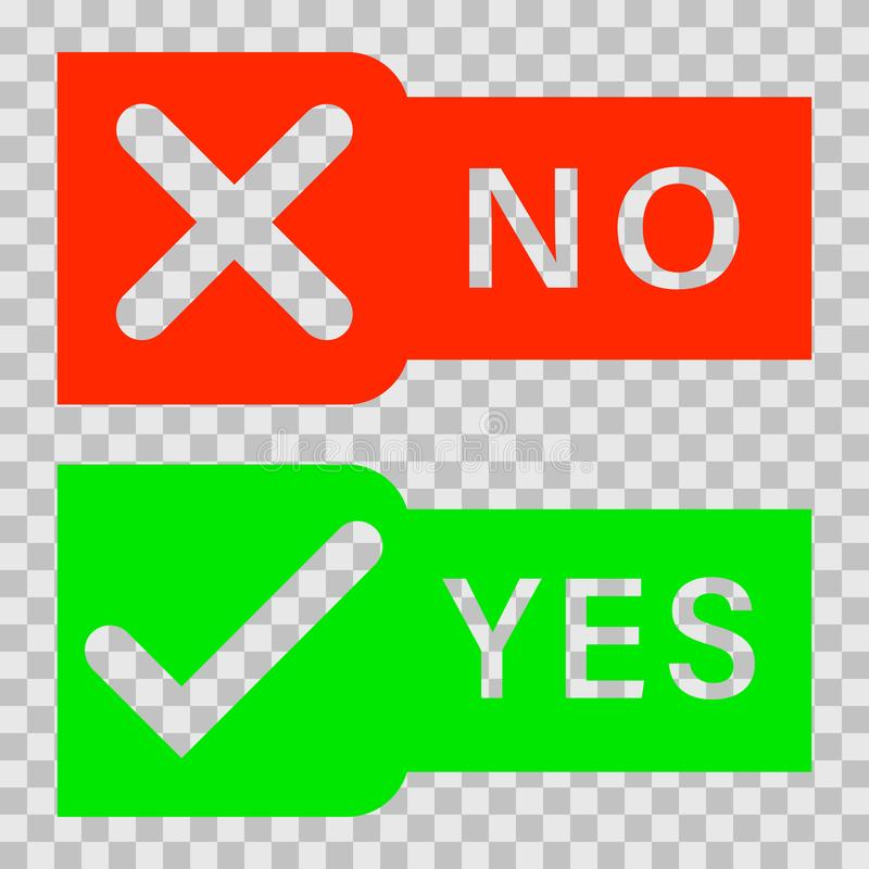 Free Check Marks Yes And No. Royalty Free Stock Photos - 123735358
