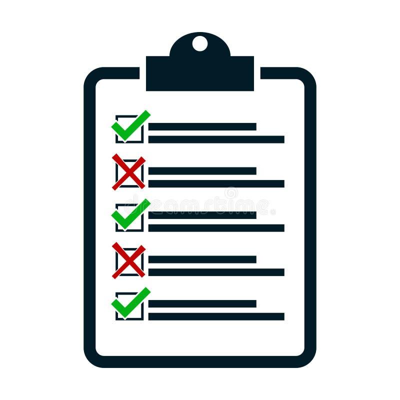 Check no yes, vector checklist royalty free illustration
